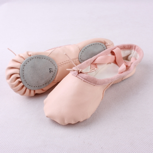 Leather Split Sole Ballet Shoes