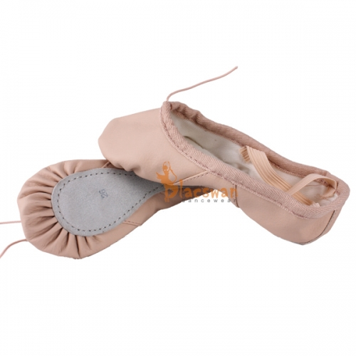 Leahter Full Sole Ballet Shoes