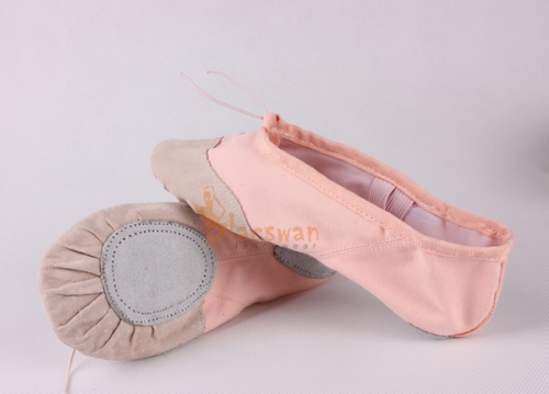 Leather Toe Split Sole Ballet Shoes