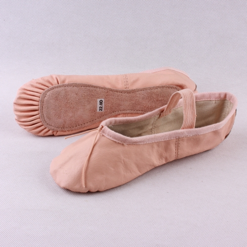 Cow Leather Full Sole Ballet Shoes
