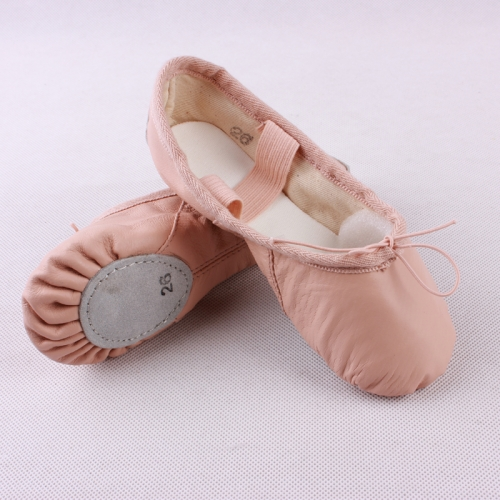 Cow Leather Split Sole Ballet Shoes