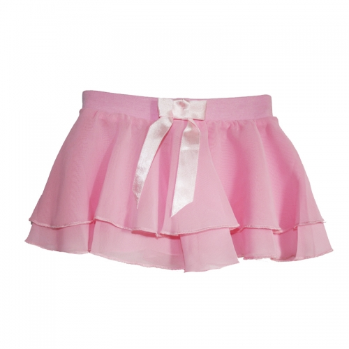 Child Bowknot Circle Chiffon Skirt