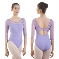 Adult Mesh 3/4 Sleeve Leotard