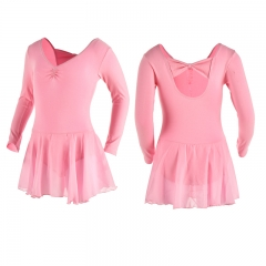 Child Long Sleeve Leotard with Skirt