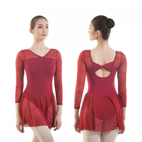 Lace Leotard Long Sleeve