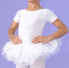 Child Lace Short Sleeve Tutu