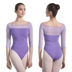 Adult 3/4 Sleeve Lace Leotard