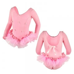 Child Bowknot Long Sleeve Tutu