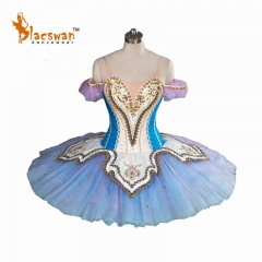 2017 New Blue Professional Tutu Ballet Costumes BT814 Girls Classical YAGP Ballet Tutu Professional Stage Platter Tutu for Adult