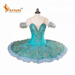 2017 New Blue Classical Ballet Tutu Costume Professional for Kids BT819 Platter Custom Size Professional Tutu Ballet Costumes